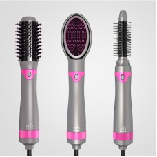 Hot Air Comb 3 In 1 Replaceable Hair Straightener Curling Comb Hair Dry Massage Comb Styling Tools