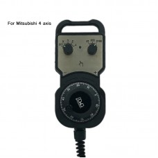 4Axis MPG CNC Handwheel CNC Pendant Pulse Wave Output 25PPR For Mitsubishi CNC System