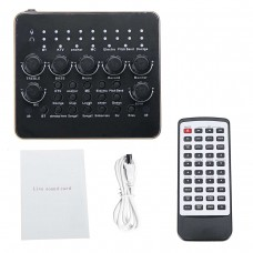 V10 Live Sound Card External Bluetooth Sound Card with Remote Control For K Song Live Broadcast