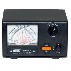 NISSEI RX-503 Power Meter Short Wave UV SWR Watt Meter 1.8-525MHz 0-200W