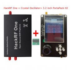 "1MHz-6GHz HackRF One w/ Shell Crystal Oscillator + PortaPack H2 3.2"" Touch Screen 0.5PPM TCXO Clock"