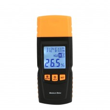 BENETECH GM610 Wood Moisture Meter Pins Humidity Tester Timber Damp Detector Digital LCD Display