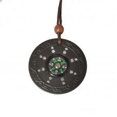 Quantum Pendant Scalar Energy Ion Lava Stone Necklace Anti-Radiation Protection Health Necklace