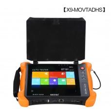 X9-MOVTADHS 4K CCTV Tester Network + Analog + Cable Finder + HDMI Input Output + 8MP (AHD+CVI+TVI)