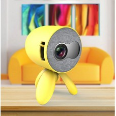 1080P Mini Projector For U Disk Hard Disk TF Card AV HDMI Headset YG220 Ordinary Version Yellow