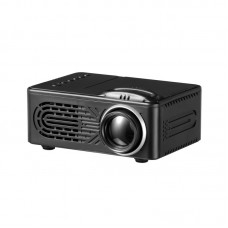 814 Mini LED Projector Support 1080P with Multi-Interface AV USB HDMI 3.5MM Headphone Jack Black