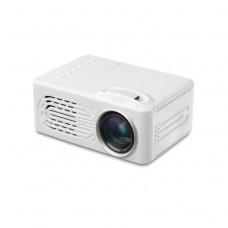 814 Mini LED Projector Support 1080P with Multi-Interface AV USB HDMI 3.5MM Headphone Jack White