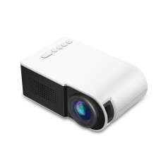 Home Projector Portable Mini Projector Home Theater Support 1080P HD YG210 White