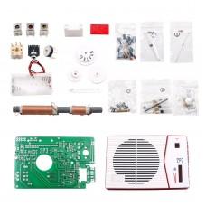 Tecsun 2P3 Radio DIY Kit AM MW Radio Receiver Assembly Parts Red Wine Color Unassembled
