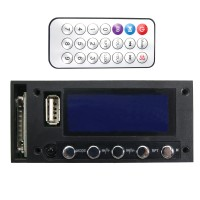 7-16V AC DC Decoder Blue Screen Stereo Output Bluetooth Mixer Car Audio Amplifier MP3 Decoding Board