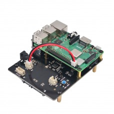 X820 V3.0 SATA Storage Expansion Board with Power Adapter Metal Shell Support 4TB for Raspberry Pi