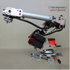 6-Axis Mechanical Robotic Arm Industrial Manipulator DOF Robot Arm Frame DIY Kit (with 7 Servos)