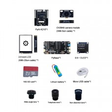 pyAI-K210 Core Board Python Development Board AI Machine Vision with pyBase OLED 16G SD Card Lens