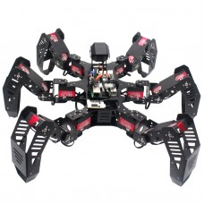 18DOF Hexapod Robot Spider Robot 2DOF PTZ with Main Board for Raspberry Pi 4B/4G Finished