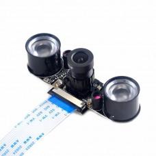 For Raspberry Pi 3B/3B+/4B Zero w Camera Focal Adjustable Infrared Night Vision Camera Module w/ IR Lights