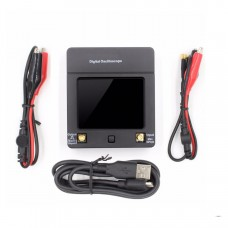 DSO112A Handheld Digital Oscilloscope 2MHz 5Msps TFT Touch Screen with 2pcs BNC-Clip Cable