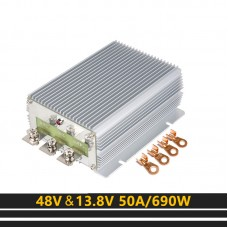 Step Down Converter 48V To 13.8V 50A 690W Waterproof Moisture-proof Module For Golf Cart Forklift