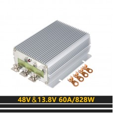 Step Down Converter 48V To 13.8V 60A 828W Waterproof Moisture-proof Module For Golf Cart Forklift