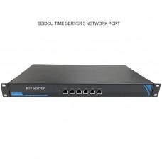 Network Time Server NTP Timer Server 5 Ethernet Ports for GPS Beidou GLONASS Galileo QZSS