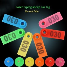 100PCS Sheep Ear Tag Ear Signage Label with 001-100 Numbers Farm Animal Livestock Supplies