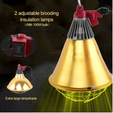 Insulation Lampshade Adjustable Piglet Breeding Warm Lamp Shade Protective Cover with 100W Bulb