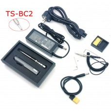 TS100 65W 24V Mini Soldering Iron Kit OLED Display Adjustable Temperature w/ Soldering Tip TS-BC2