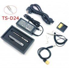 TS100 65W 24V Mini Soldering Iron Kit OLED Display Adjustable Temperature w/ Soldering Tip TS-D24