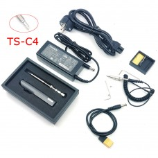 TS100 65W 24V Mini Soldering Iron Kit OLED Display Adjustable Temperature w/ Soldering Tip TS-C4