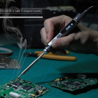 TS100 Electric Soldering Iron Programable Welding Kit DC 12V-24V 40W LCD Display w/ TS-BC2 Soldering Tip