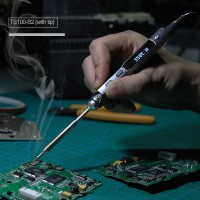 TS100 Electric Soldering Iron Programable Welding Kit DC 12V-24V 40W LCD Display w/ TS-B2 Soldering Tip