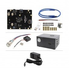 "X820 V3.0 2.5"" SATA HDD/SSD Expansion Board w/ Metal Case Power Supply Unassembled For Raspberry Pi"