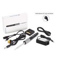 SQ-D60 Mini Soldering Iron Kit 12-24V Type-C Port Digital Tube Version + Power Adapter