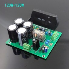 STK401-110 Amplifier Board DIY Kit HIFI Thick Film Power Amp Board 70Wx2 High Power Unassembled