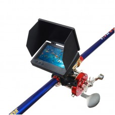Visual Fish Finder Underwater Fishing Camera Monitor 5 Inch Display 9000 Metal Reel 4.5m Rod Kit