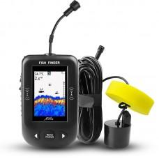 Erchang XF02 Fish Finder Sonar Alarm 100M Portable Ultrasonic Fishing Lure Echo Sounder Color Screen