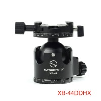 XB-44DDHX Superior Low-Profile Ball Head Panoramic Tripod Head Load 60KG with Panning Clamp DDH-05N