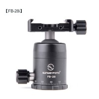FB-28i Ball Head Panoramic Tripod Head Load 6KG with Screw-Knob Clamp DDC-37 For Wide Camera Plate