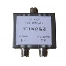 HF*UV Combiner Shortwave and UV Combiner HF 1-56MHz UV 145/435MHz 45db Isolation