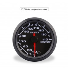 "SINCOTECH 2"" 7-Color Car Water Temp Gauge 52mm Water Temperature Meter 40~140℃ DO637 for 12V Car"
