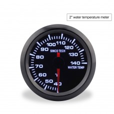 "SINCOTECH 2"" 52mm Car Water Temp Gauge Monochrome Water Temperature Meter 40~140℃ DO638 for 12V Car"