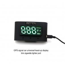 SINCOTECH Car HUD Head-up Display GPS Speedometer Overspeed Warning System 12V/24V Optional DO905