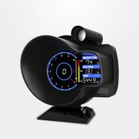 DO916 OBD2 Head-up Display Voltage Water Temp Speed Gauge Odometer Tachometer MAP Car Dashboard