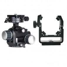 TS-E24 + GH-PRO For Canon TS-E17 TS-E24 Tilt Shift Lens Support Bracket & Geared Tripod Head Load 5KG