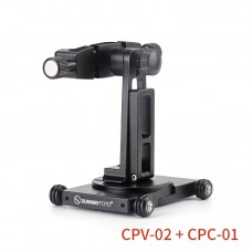 CPV-02 Camera Dolly + CPC-01 Mobile Phone Bracket For 360° Panoramic Photography Vlog