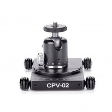 CPV-02 Camera Dolly + HB-01 Single-Notch Ball Head For 360° Panoramic Photography Vlog