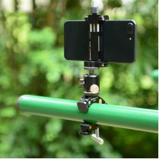 PF-01 C Clamp + HB-01 Ball Head + CPC-02 Mobile Phone Clamp For Photography Tripod Smartphone