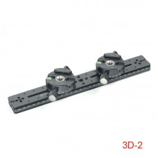 3D-2 Kit Tripod Head with Slide Dual Camera Photography Kit For Panoramic & Close-Up Photography