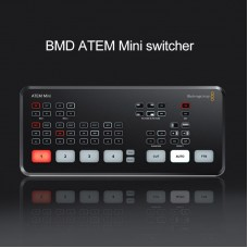 BMD ATEM Mini Switcher Four-Way On-site Directed Cutting Platform HD Video Live Stream Switcher