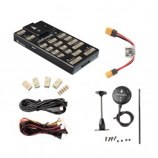 Pixhawk4 Flight Controller Aluminum Version w/ PM02 Power Management Board M8N LED Buzzer GPS Module