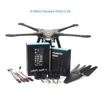 Pixhawk4 S500 V2 Drone Kit w/ 2216-880KV Brushless Motor 1045 Propeller 915MHz Telemetry Radio